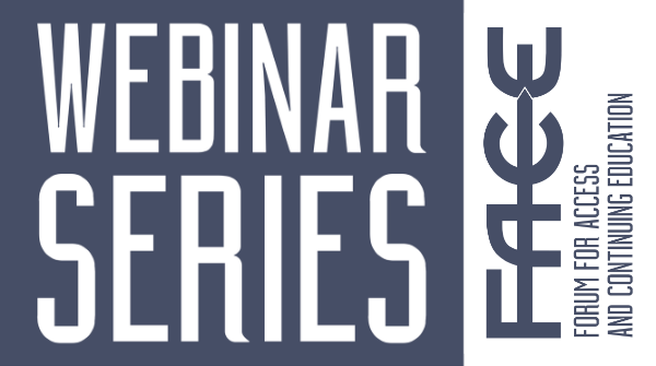 FACE webinar series on mature and part-time learners in the pandemic: Session one materials
