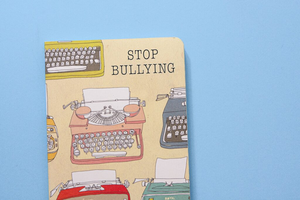 Book that says 'stop bullying' on the front